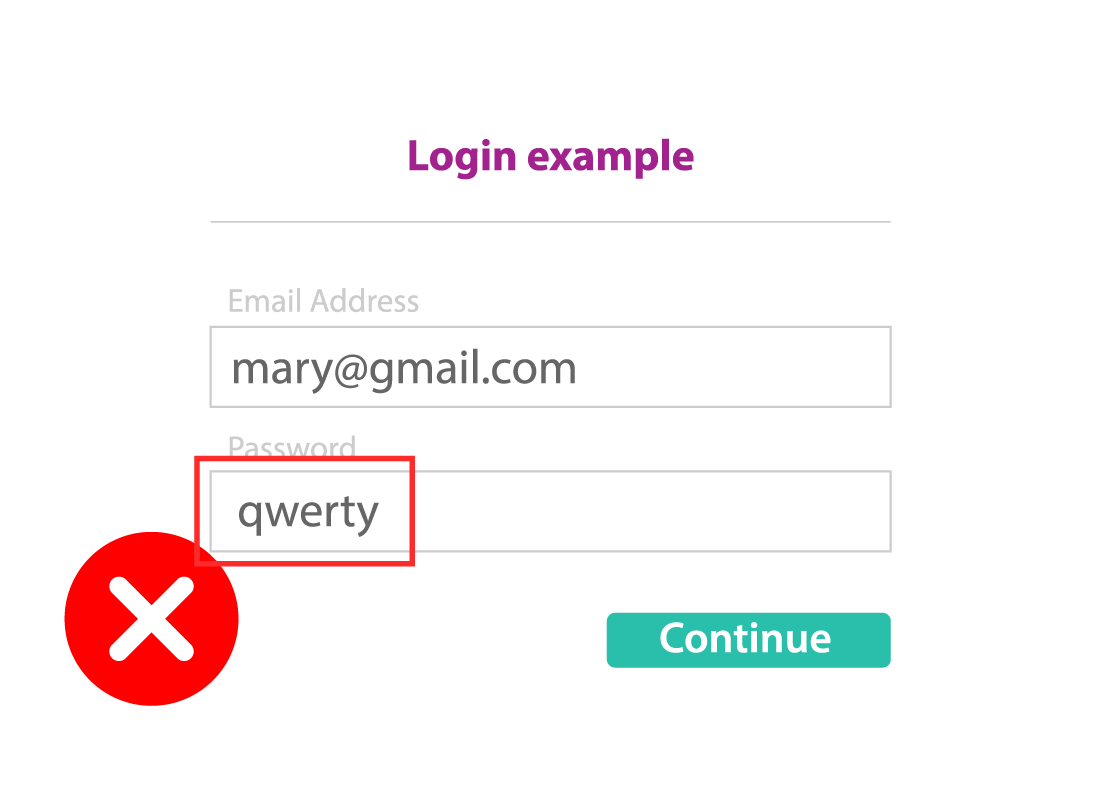 Example of the password being 'qwerty'