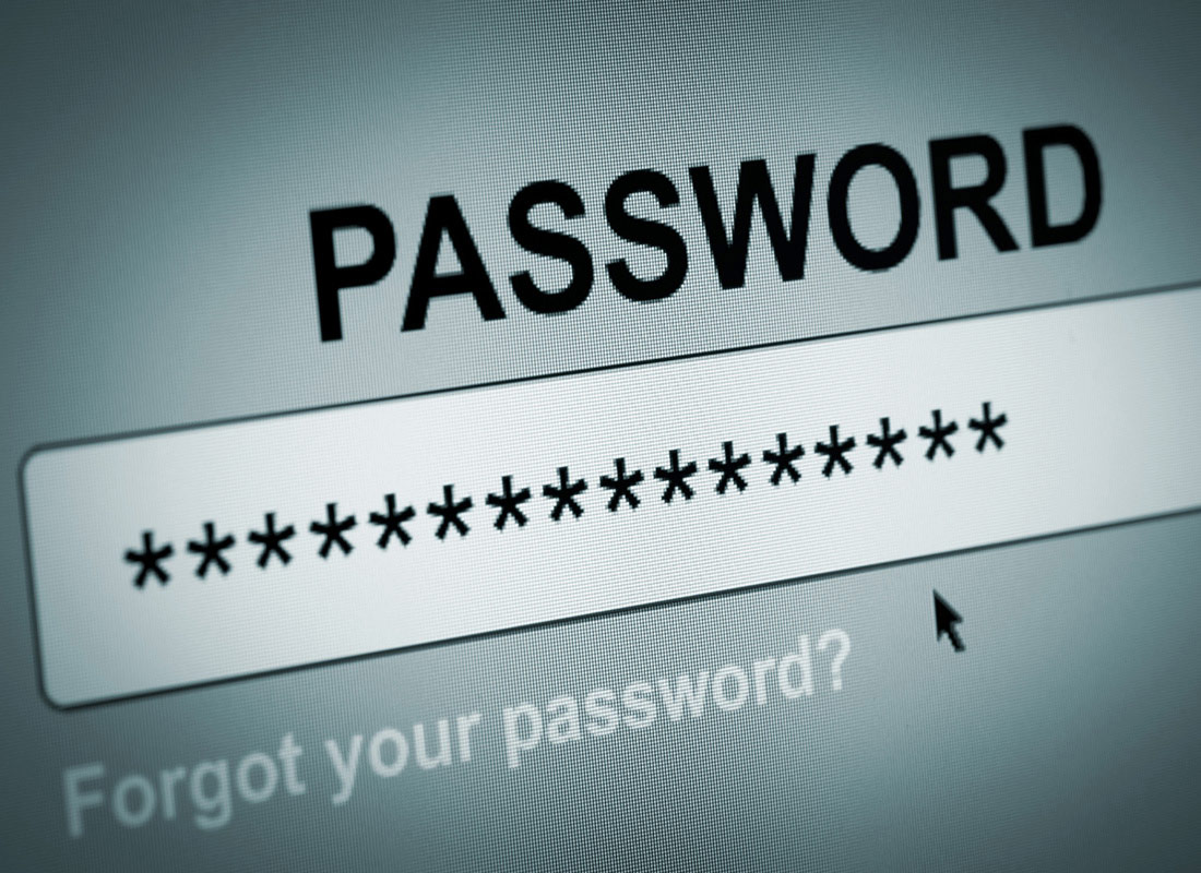 A password has been typed in and is represented by multiple asterisks. There is also a text link underneath asking if you have forgotten your password
