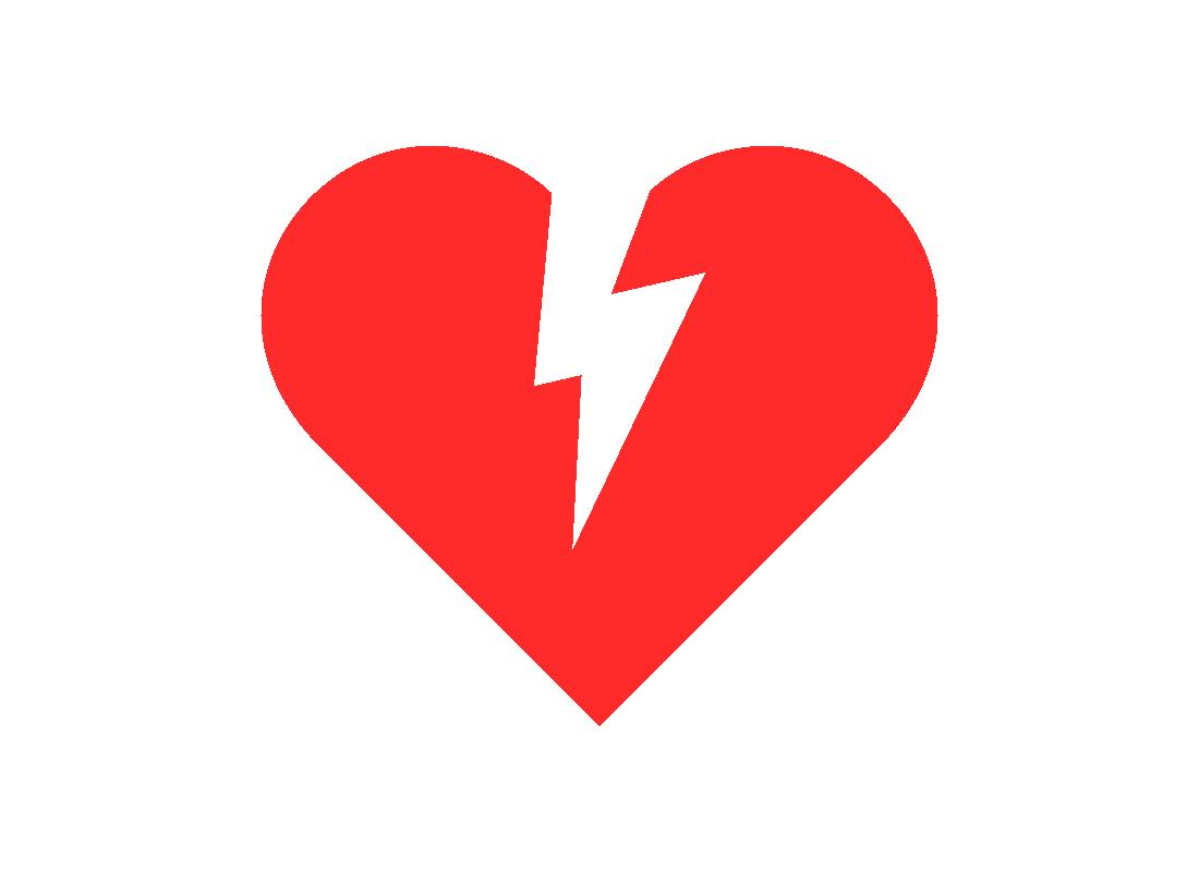 Icon of a broken heart
