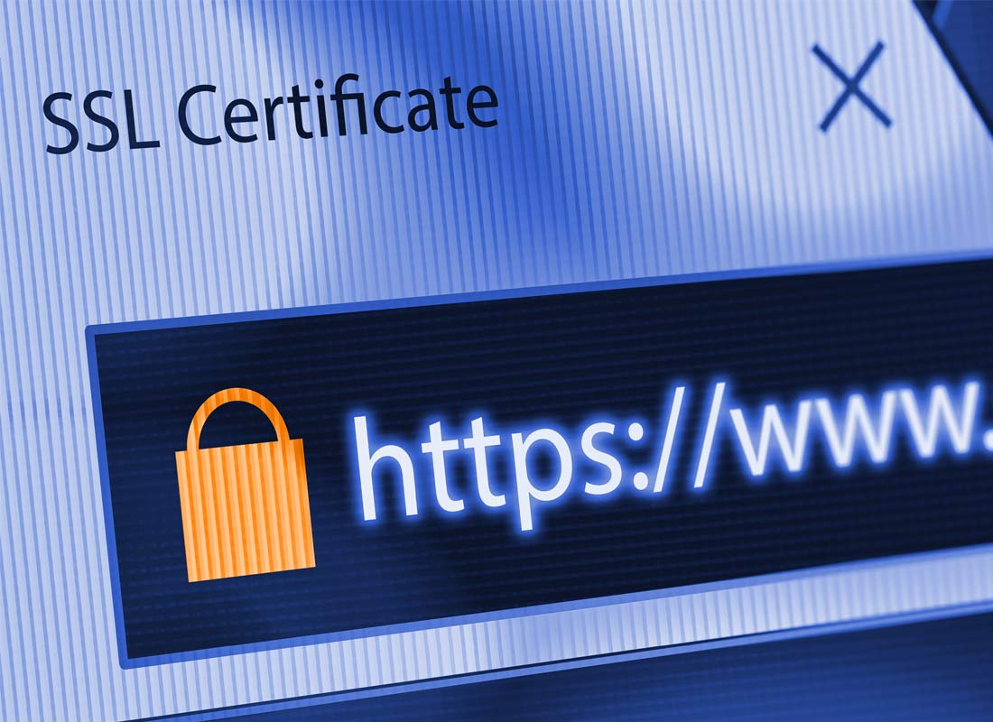 An example of a secure URL in the address bar