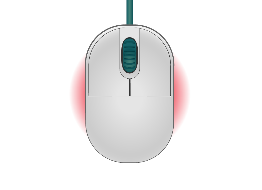 a digital computer mouse
