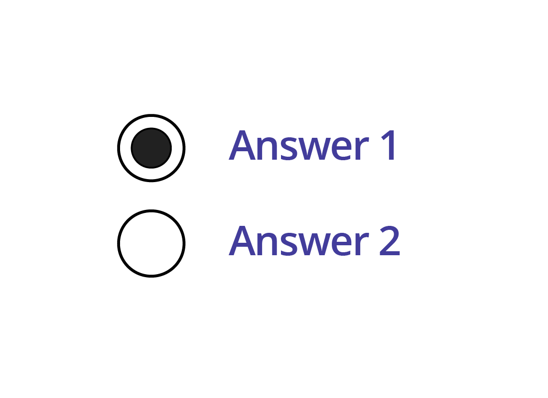 an example of a radio button that has been selected