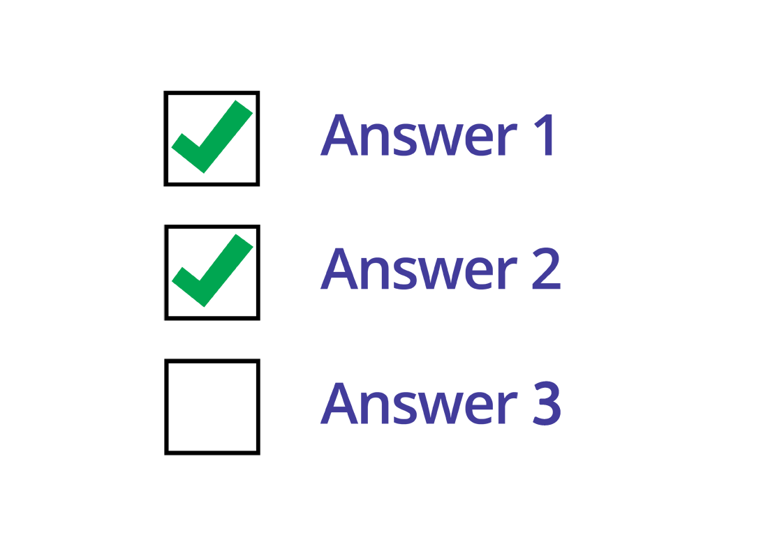 an example of a three checkboxes where two have been selected