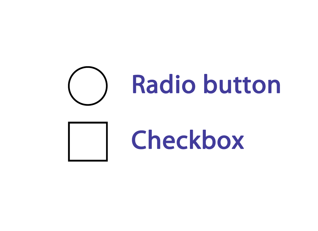 an example of radio buttons that are often used in online quizzes and forms
