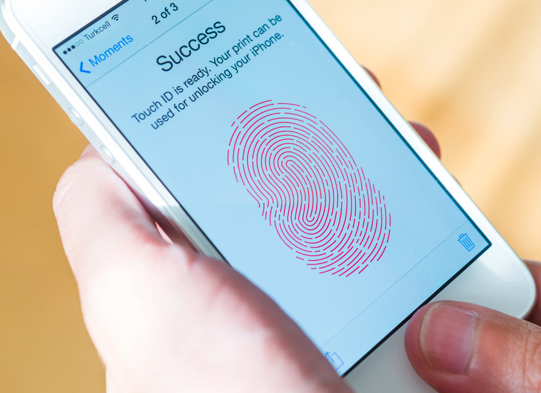 a touchscreen device that uses fingerprint recognition security