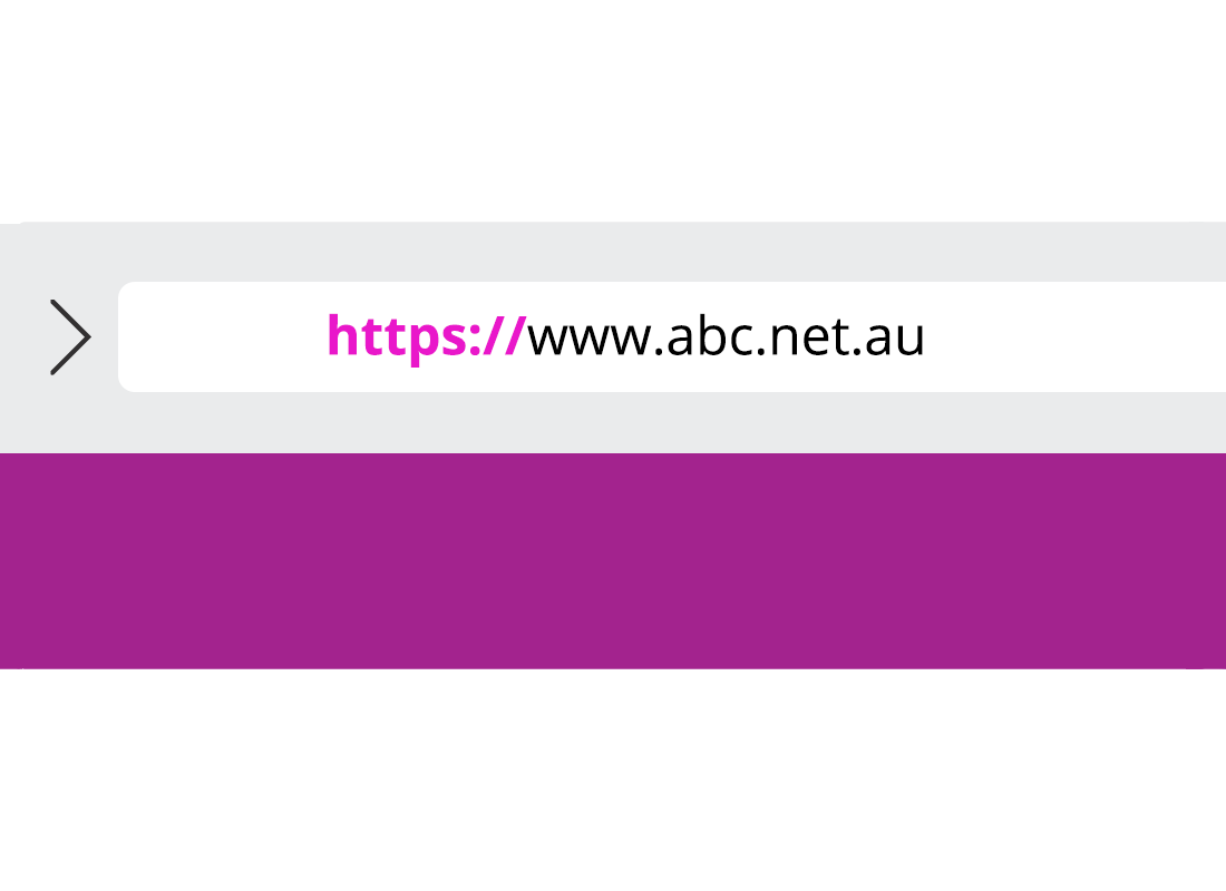 A website address is shown with 'https://' highlighted