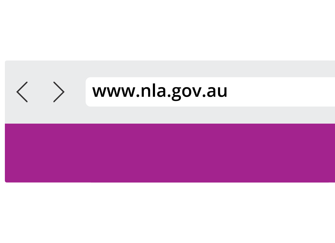 Shows the address bar of a browser now containing the website address 'www.nla.gov.au'