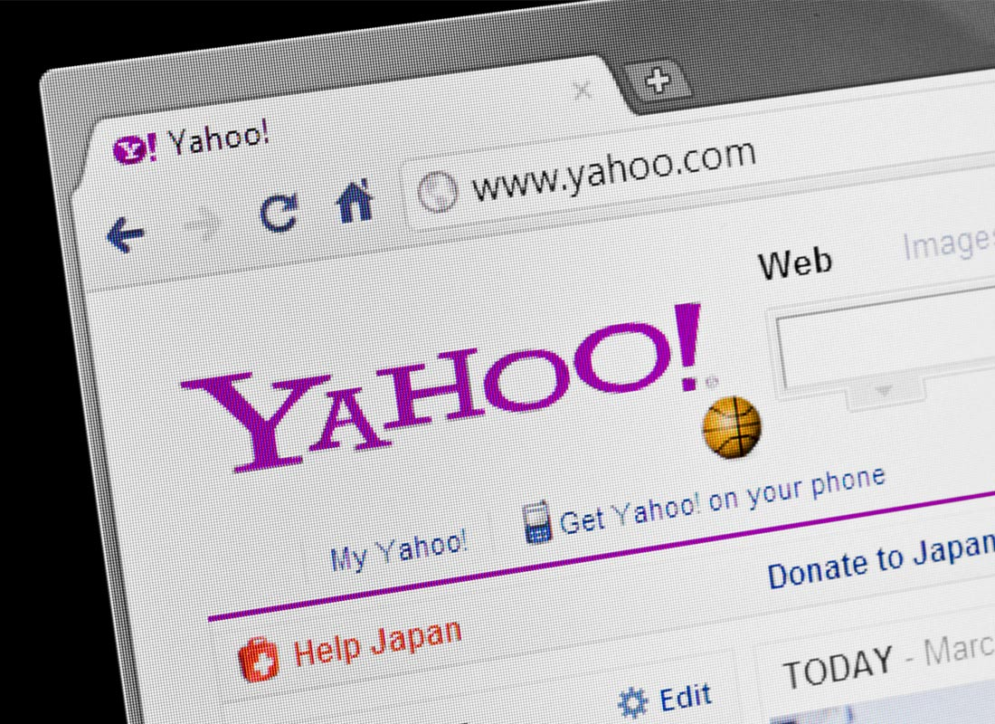 The Yahoo homepage