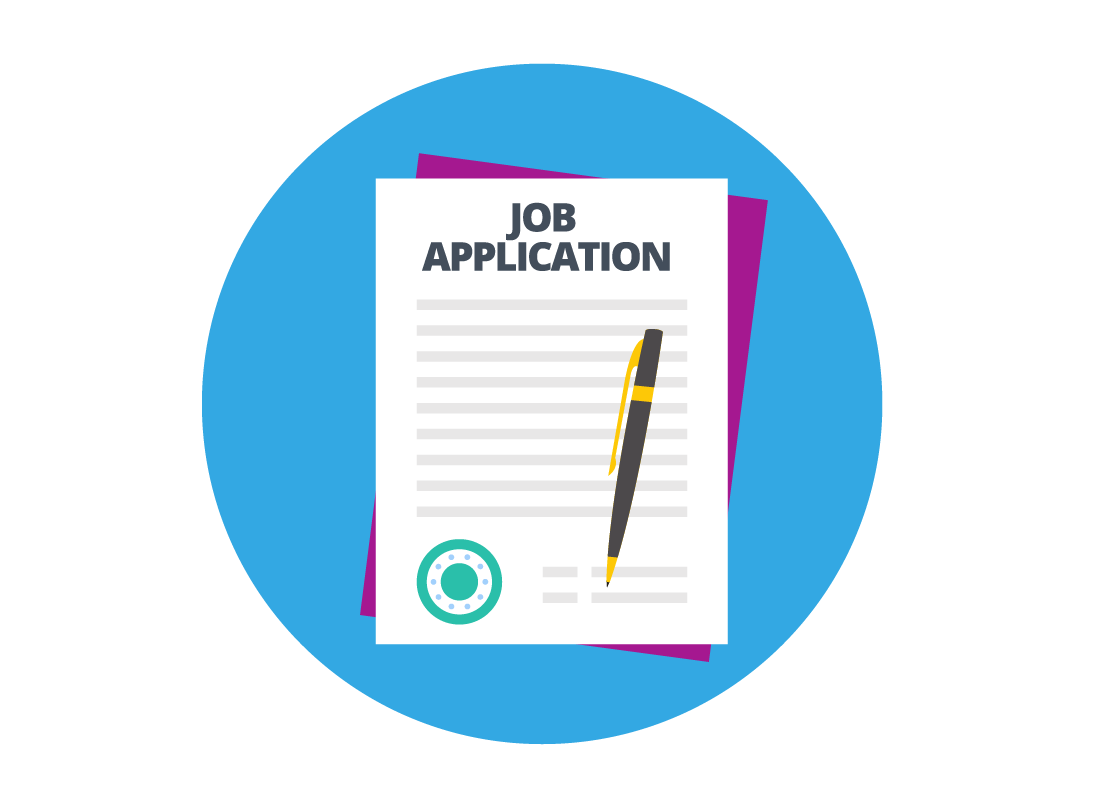 Icon of a job application image