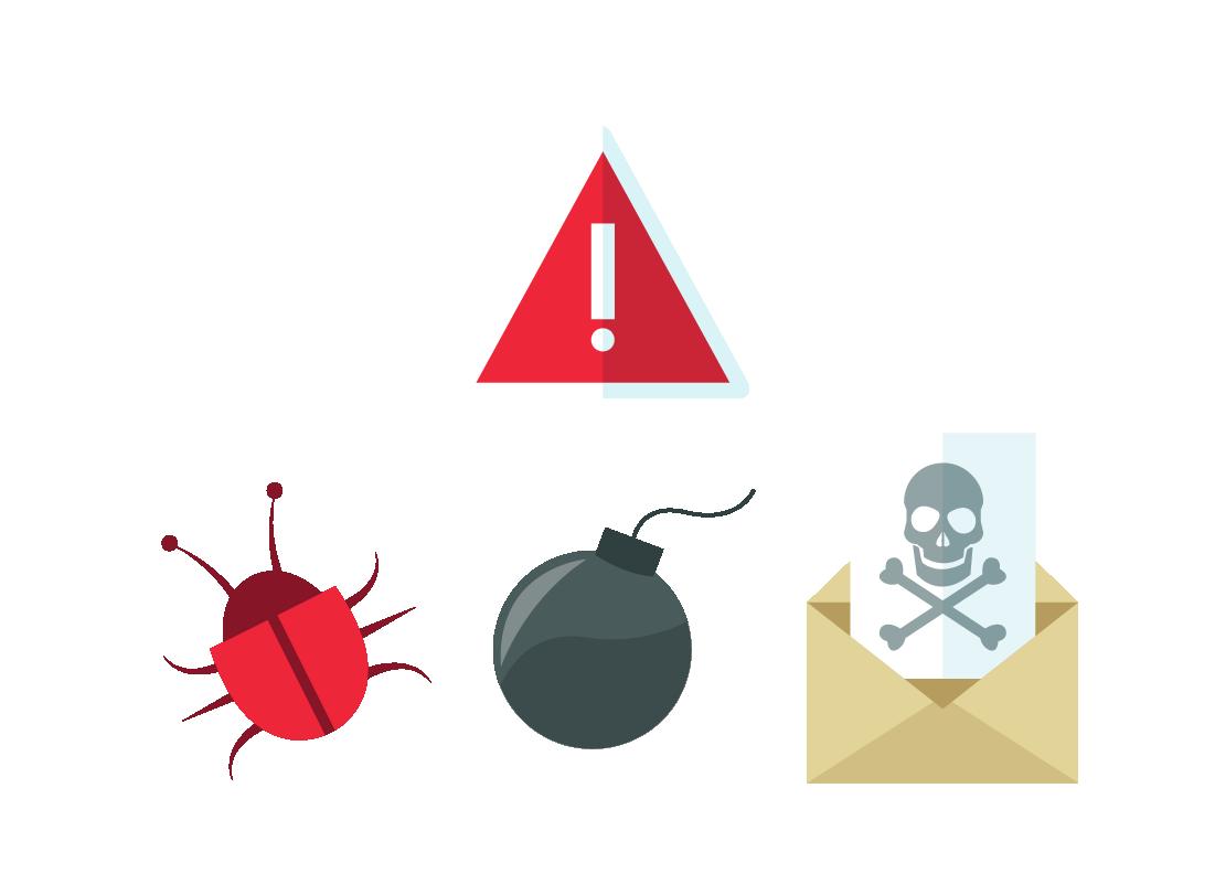 A range of warning icons
