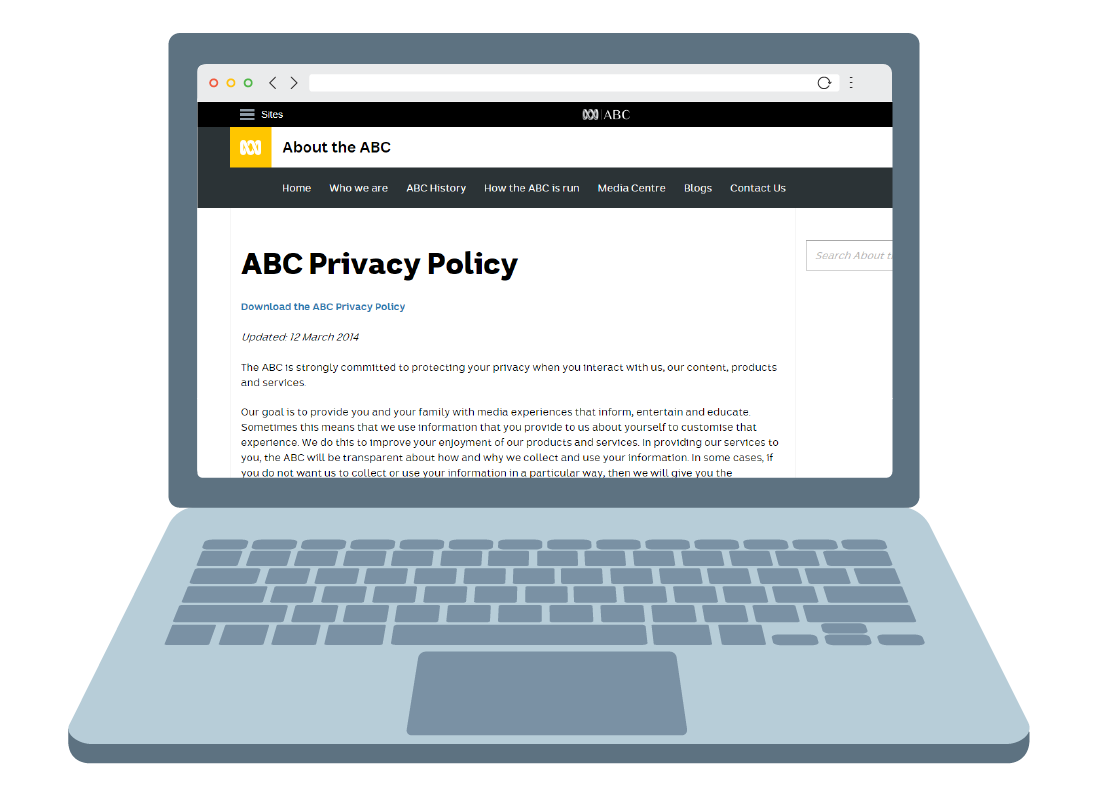 The ABC websites privacy policy
