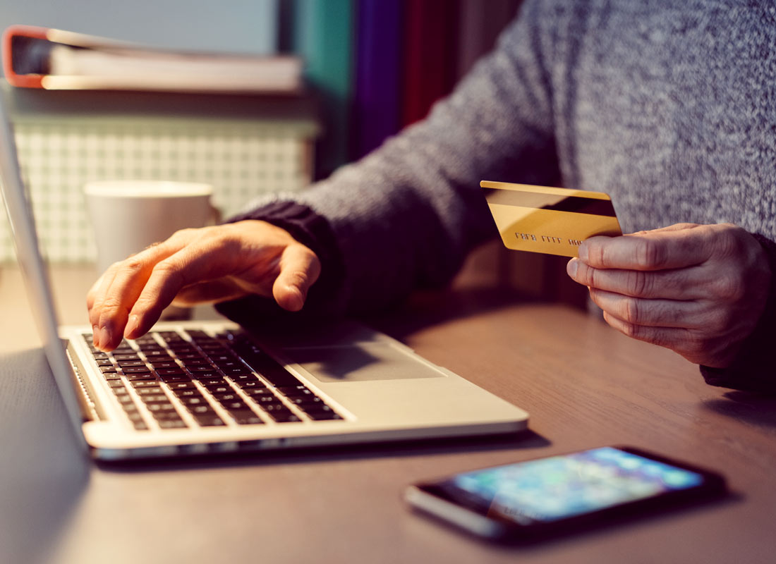 Personal data like credit card details get submitted online when buying things on the internet