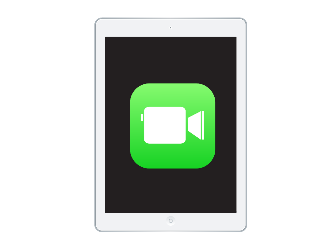 A FaceTime icon on a handheld device