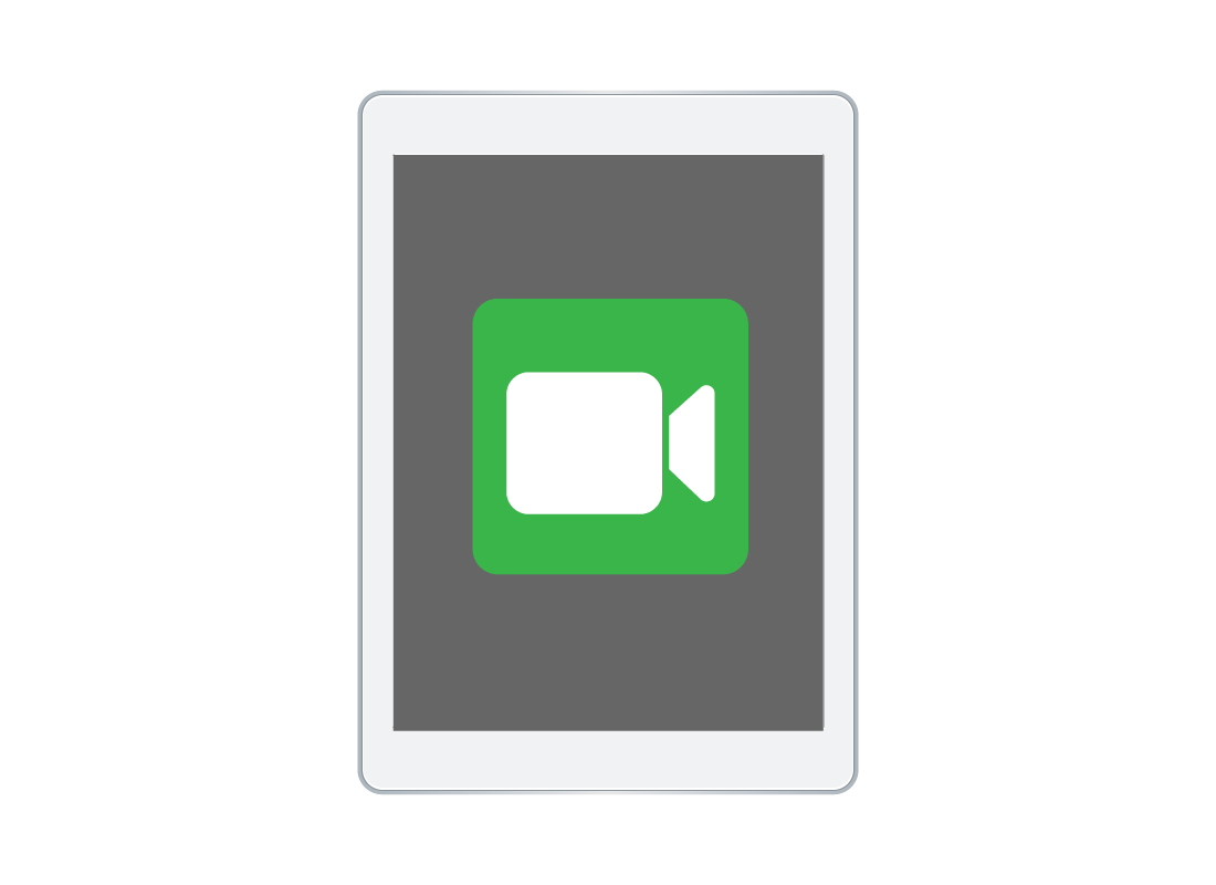 A FaceTime icon on a smart device screen
