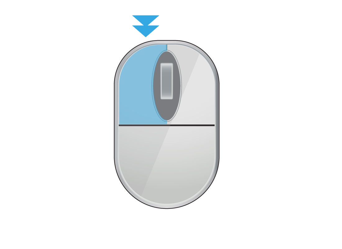 A computer mouse showing a double click