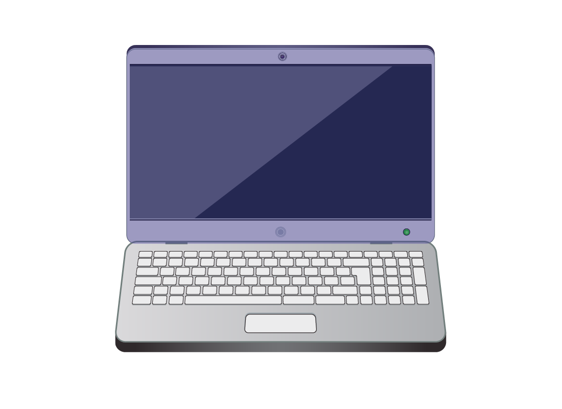 A laptop computer with the screen highlighted