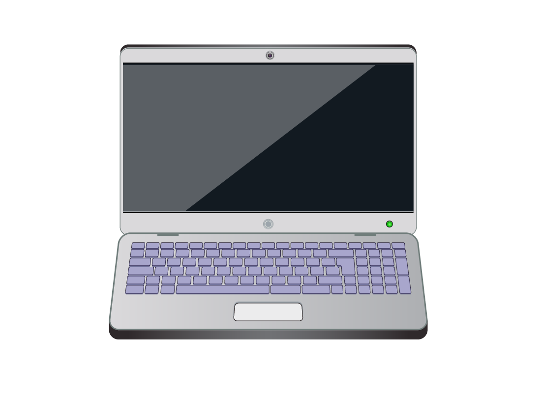 A laptop computer with the keyboard highlighted