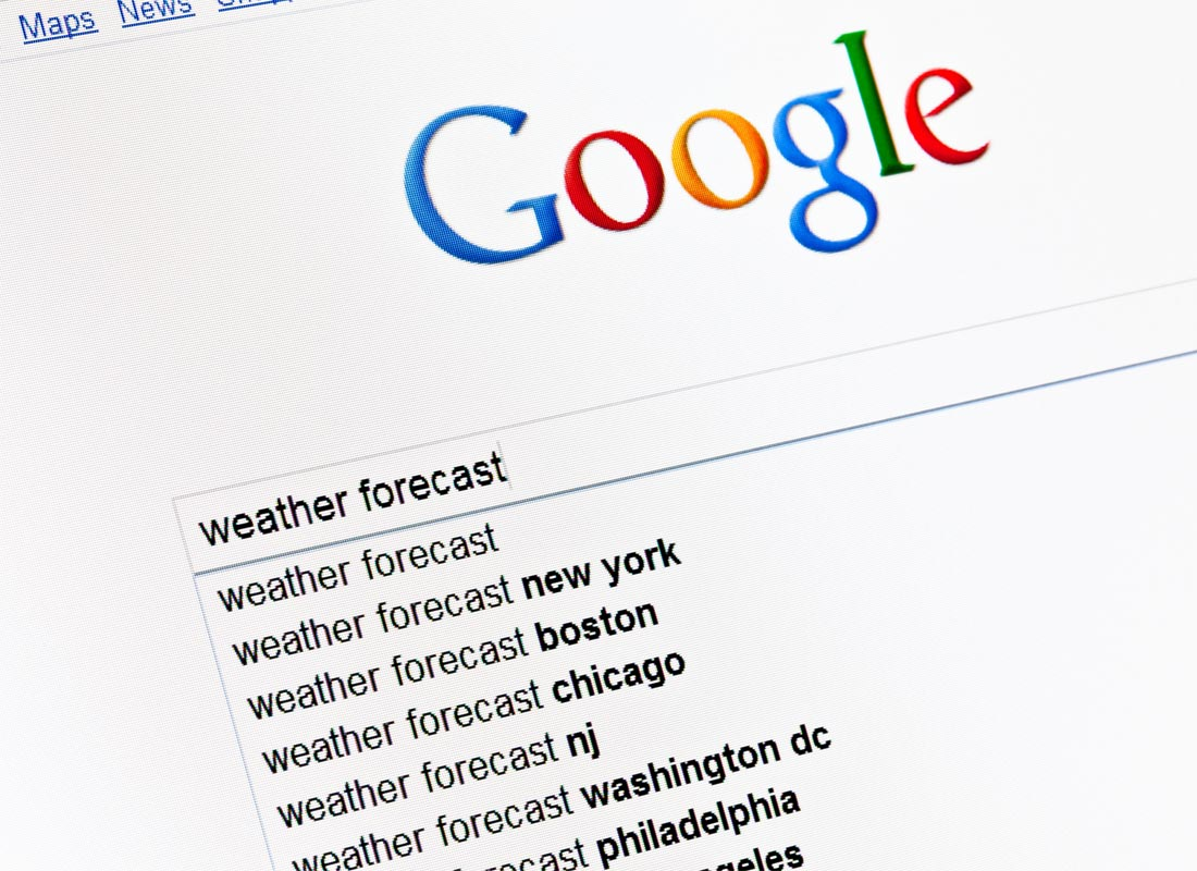 A stock image of a Google search page