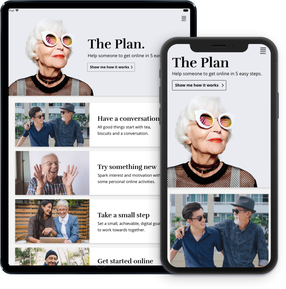 The Get Started app is available for smartphones and tablets
