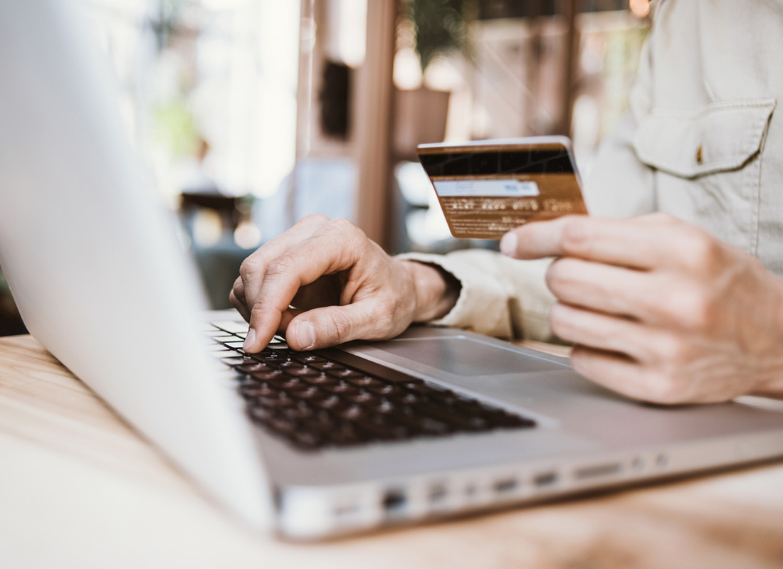 Purchasing goods online using a credit card