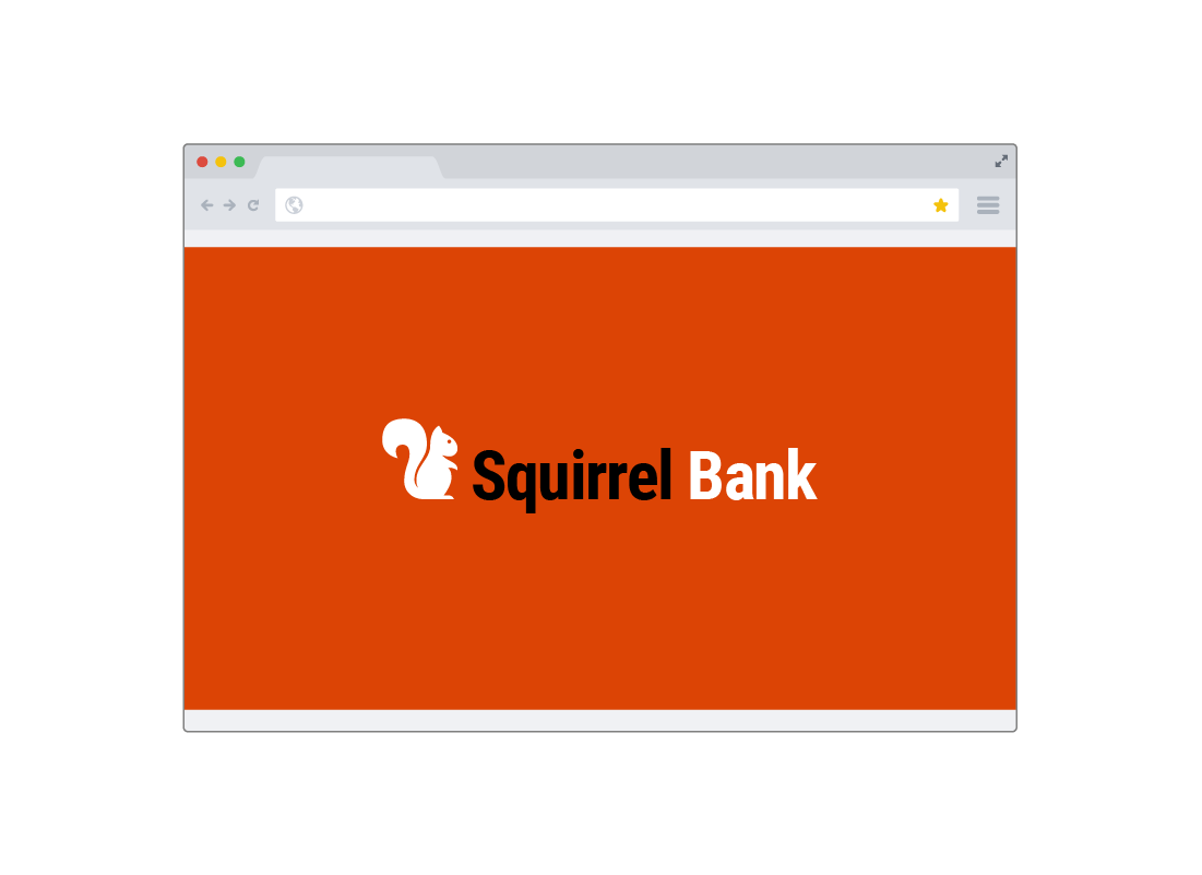 A typical online banking website showing the bank's logo