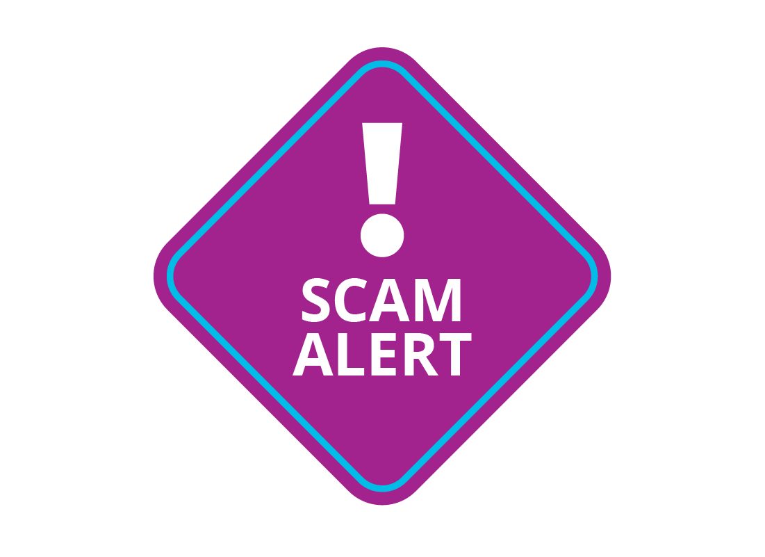 An icon of a scam alert warning sign
