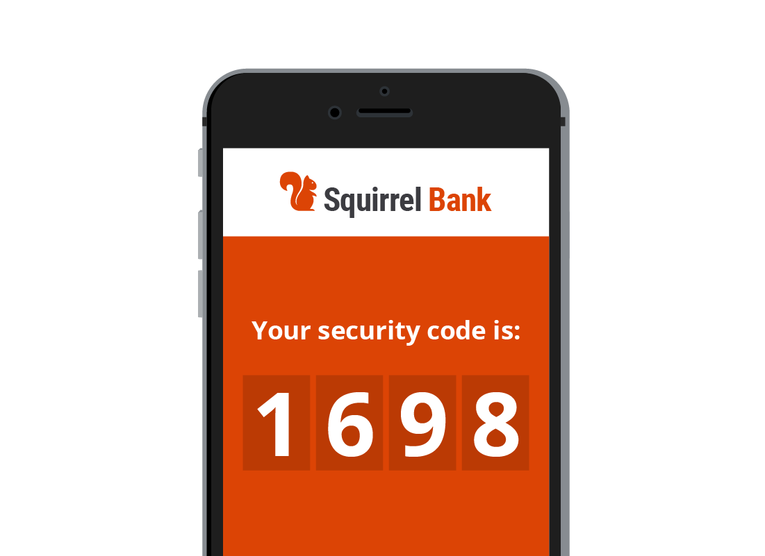 An example of a Two Factor Authentication code on a mobile phone
