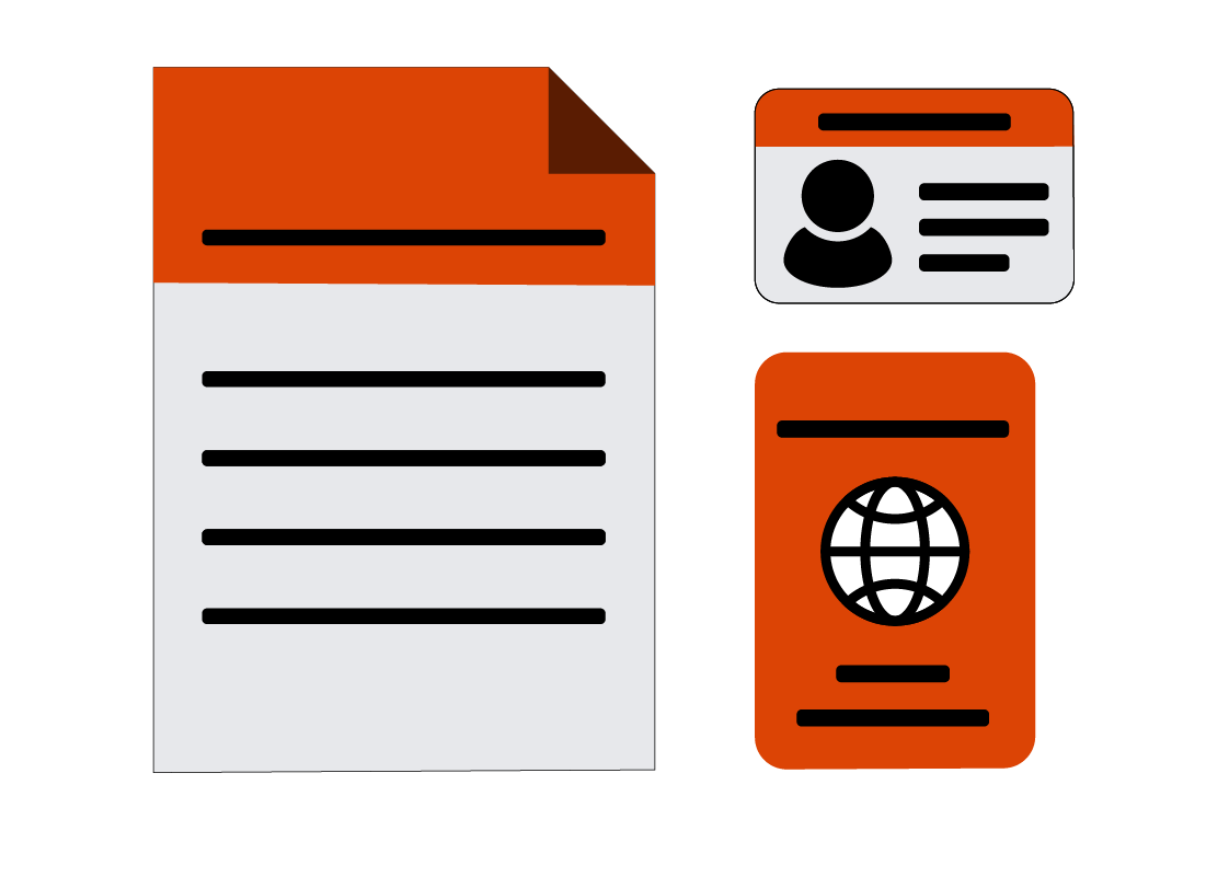 Various documents for proving ID
