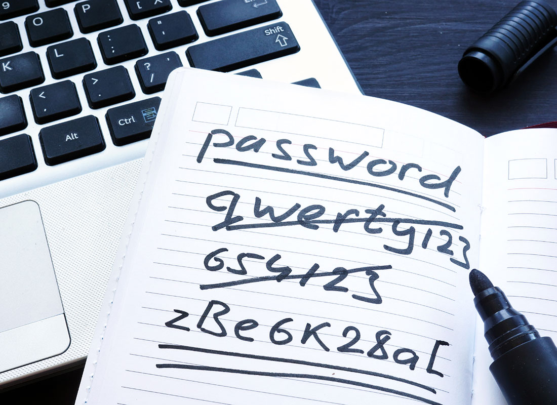 Strong passwords are key to staying safer online.