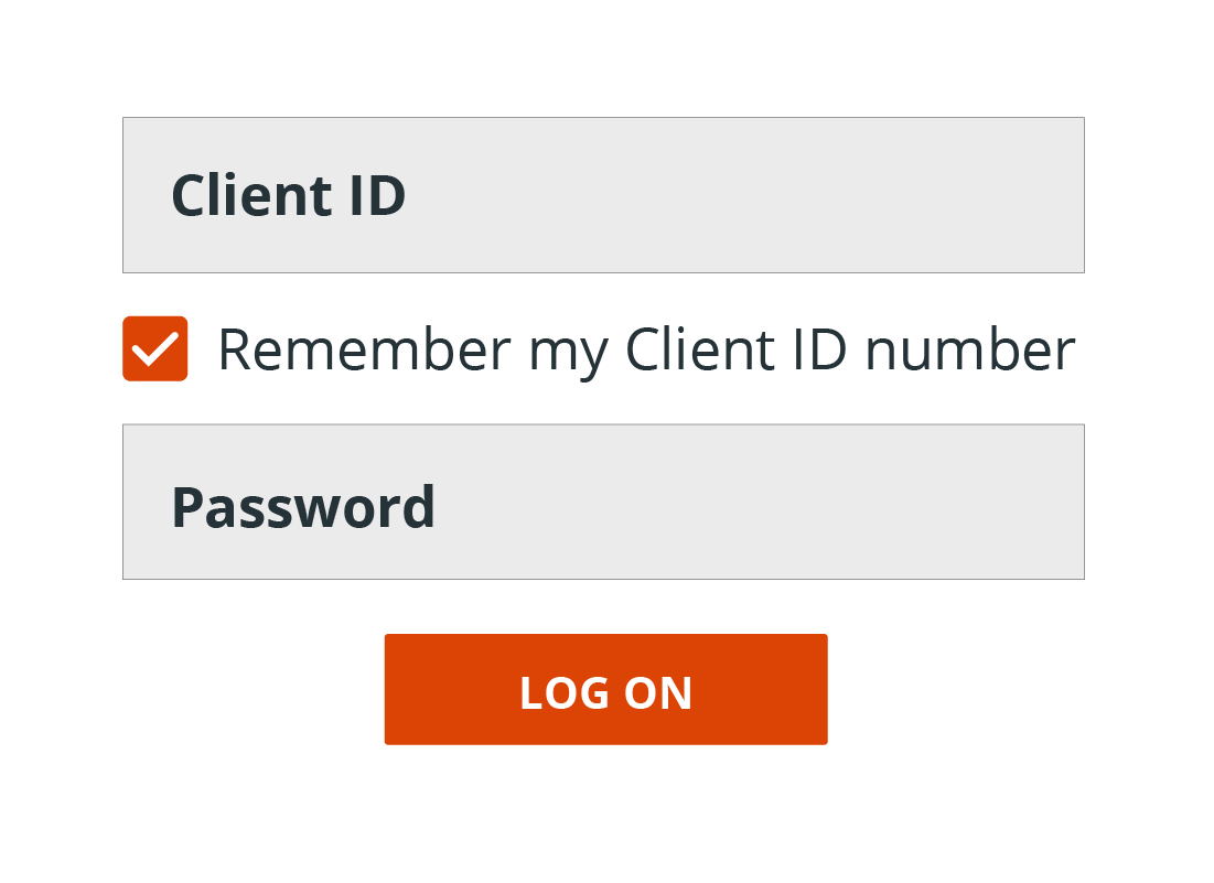 The little tick box that allows the browser to remember your Client ID if you click on it