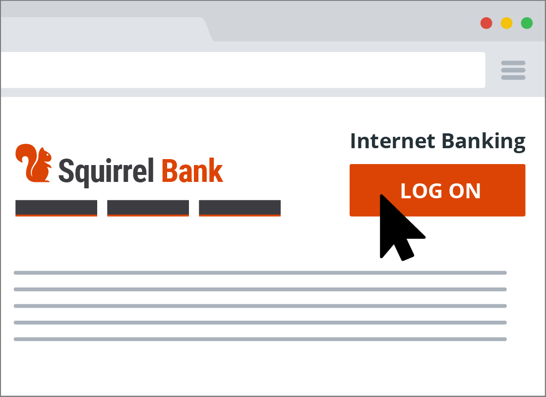 A typical log on button on a bank's website