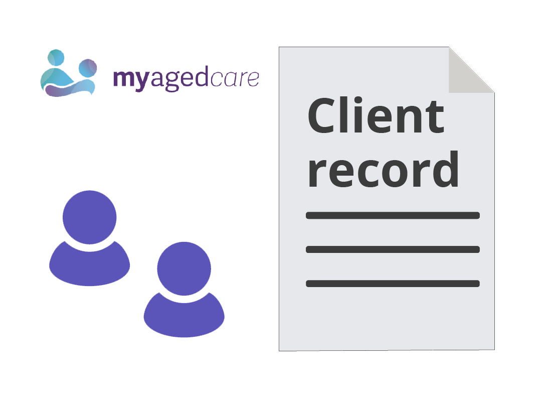 My Aged Care logo and client record