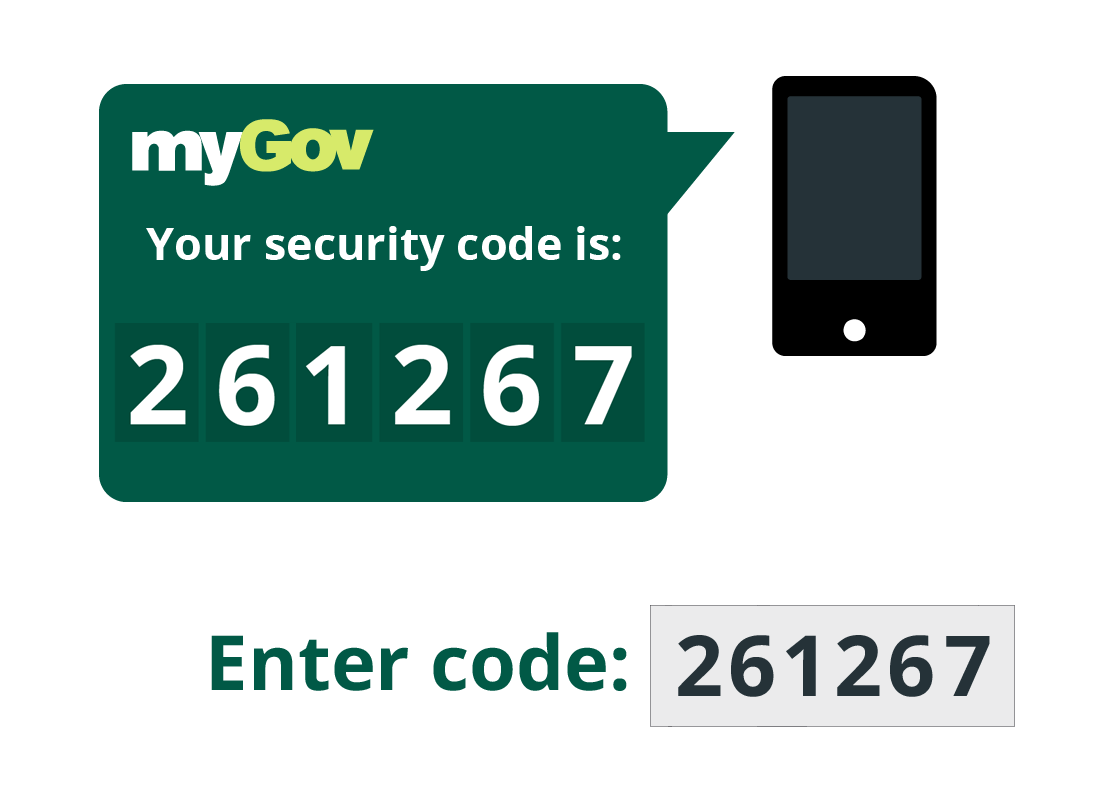 mobile phone displaying secure code