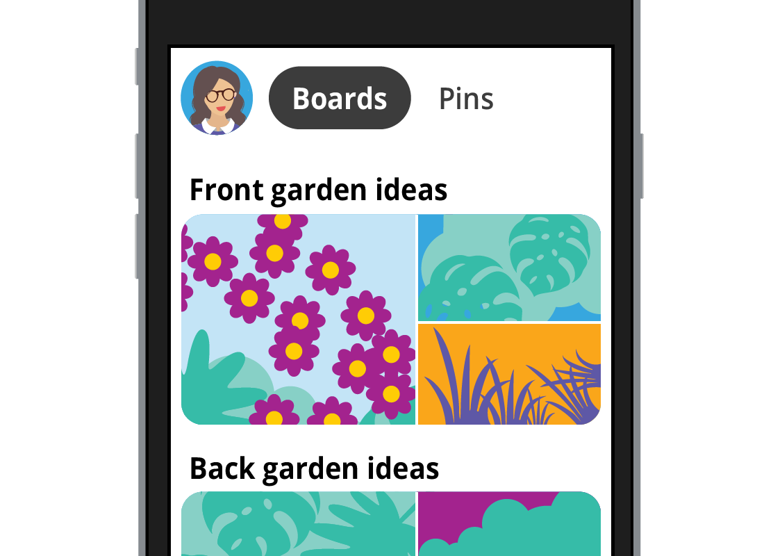 With Pinterest, members 'pin' interesting articles onto their profile 'board' to build up a collection of their interests.