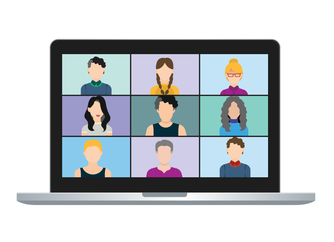 Many people can participate in a Zoom conference call at the same time.