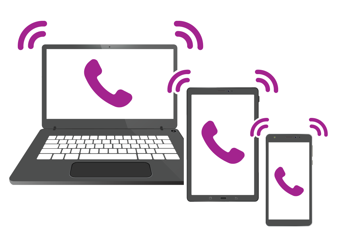 Zoom can be used on computers, tablets and smart phones.