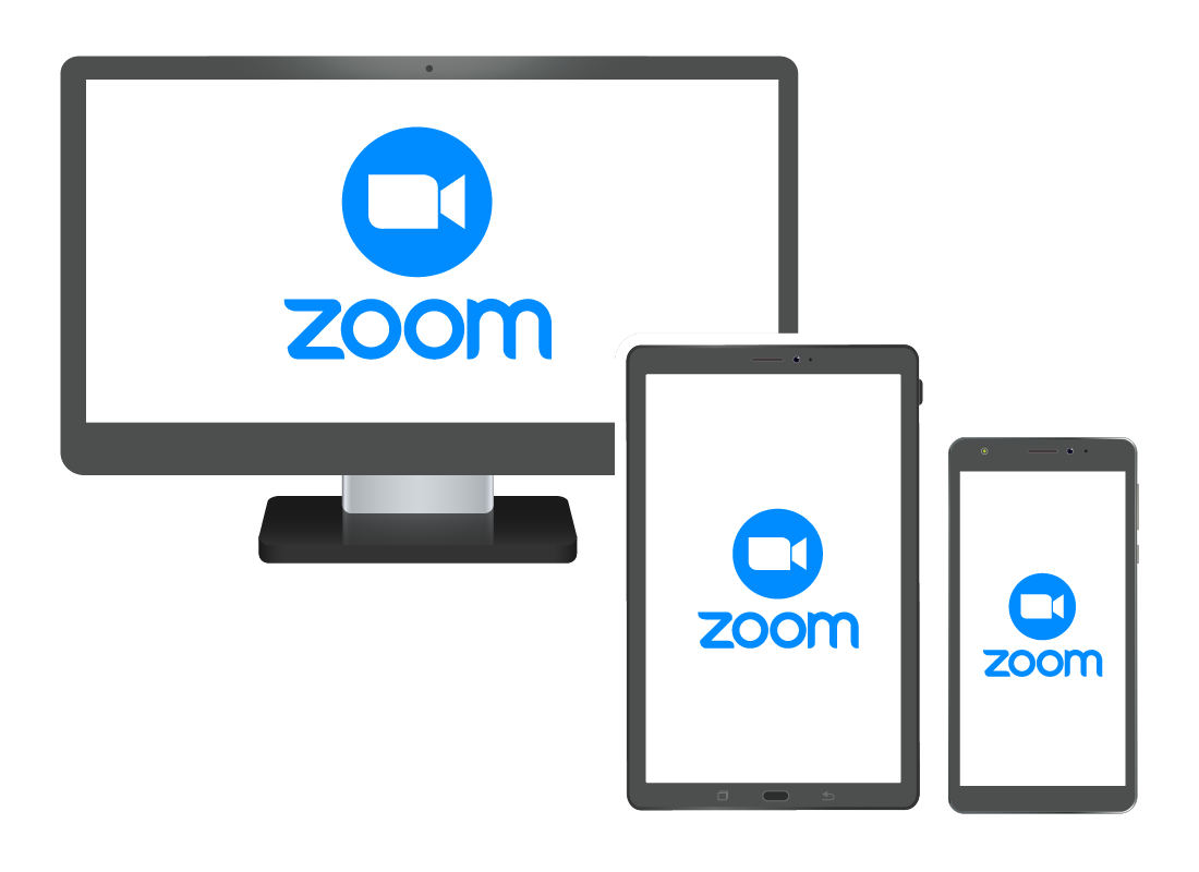 Zoom can be installed on laptop and desktop computers, tablets and smart phones.