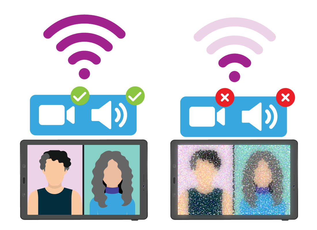 A strong, fast internet connection will result in a faster and more stable Zoom experience.