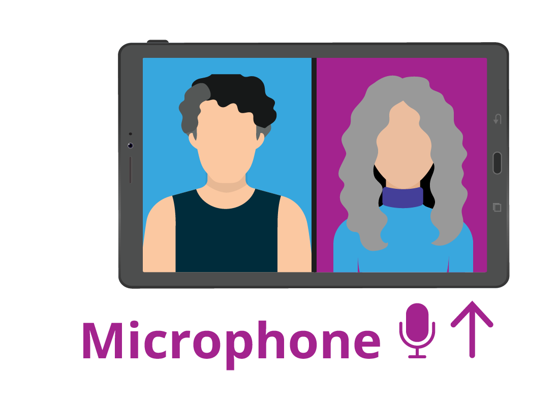 The typical location of the microphone on a tablet.