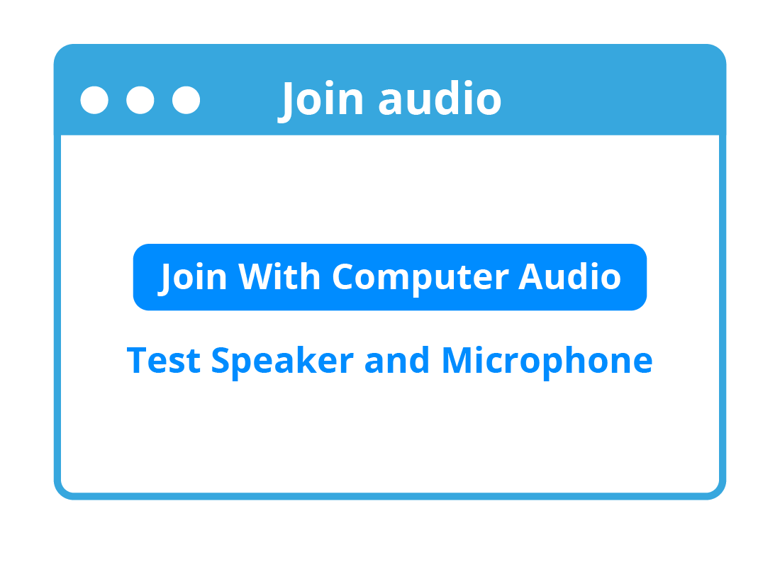 Zoom asks if you want to connect to a call using your computer's audio equipment.