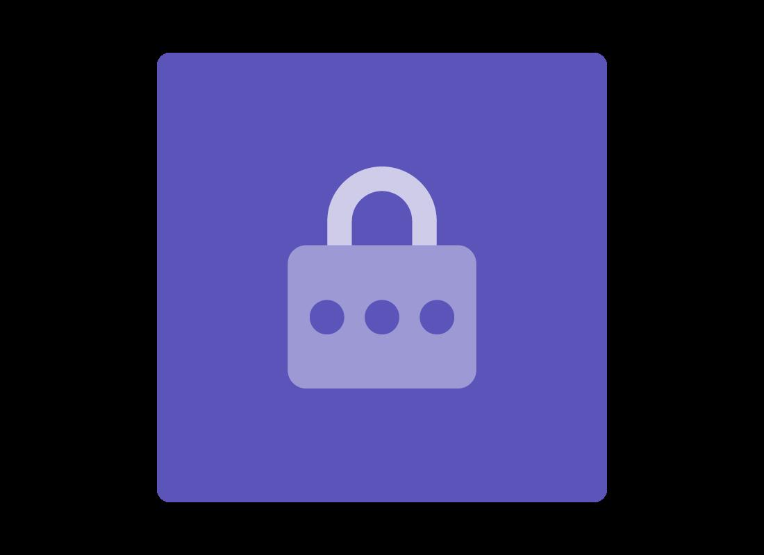 A diagram of a padlock denoting safety
