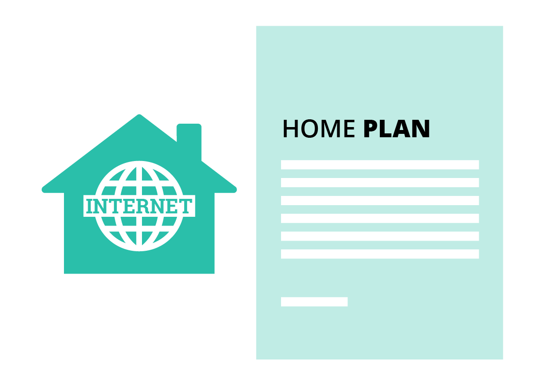 A graphic depicting a home internet plan contract