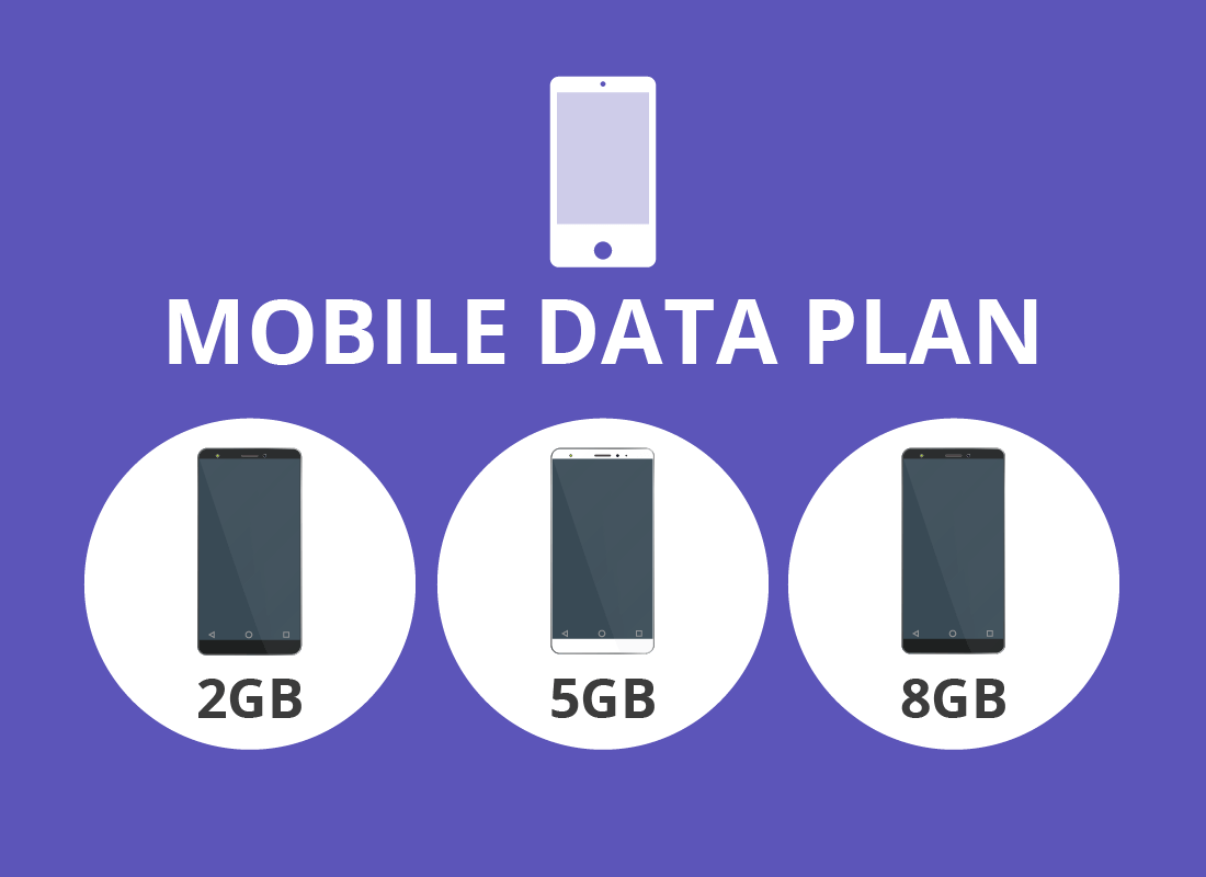 A diagram showing options for data on a mobile data plan