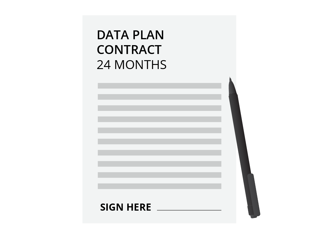A typical contract for a 24-month data plan