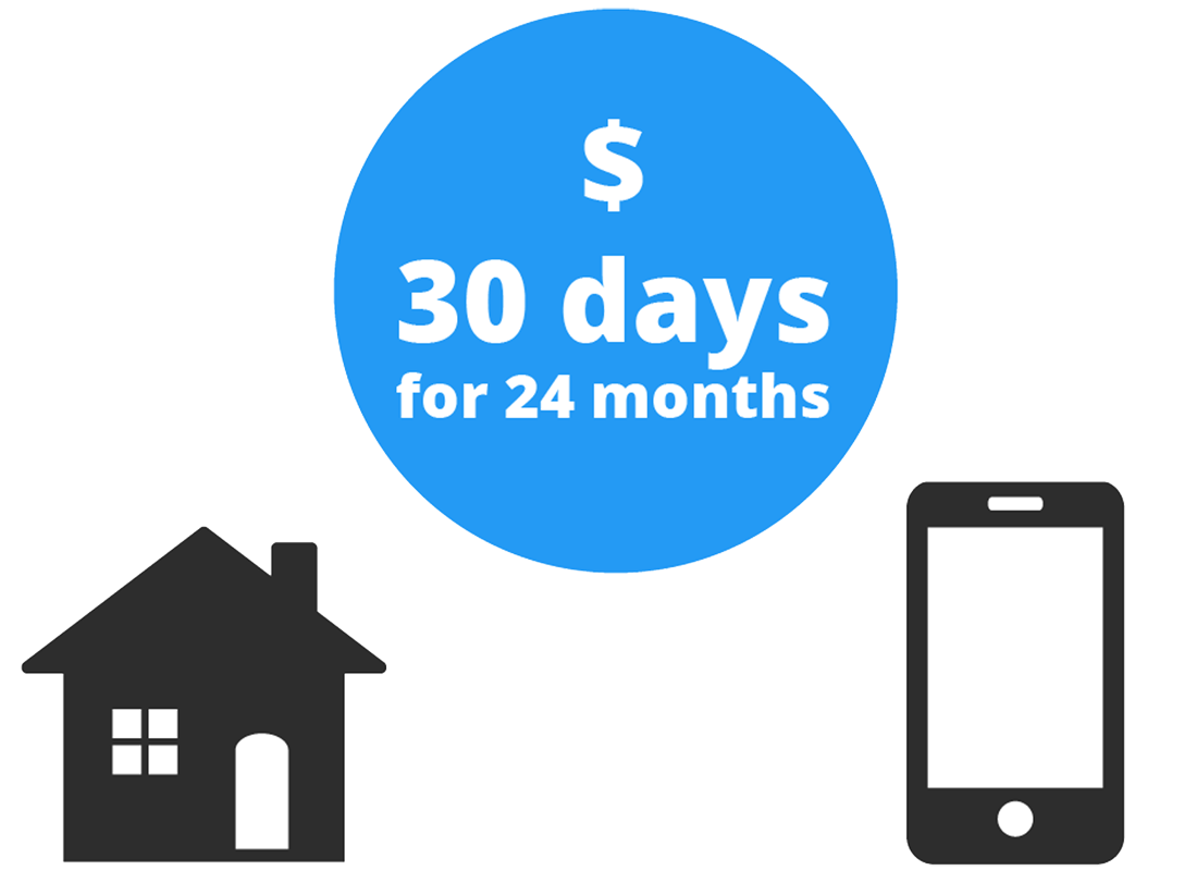 On a contract plan, the billing period is also every month