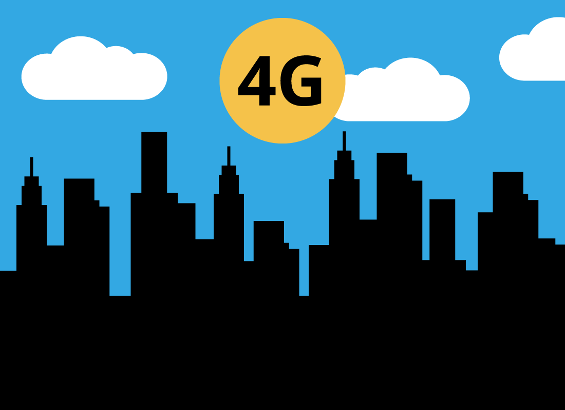 Fast 4G internet is available almost everywhere in the world
