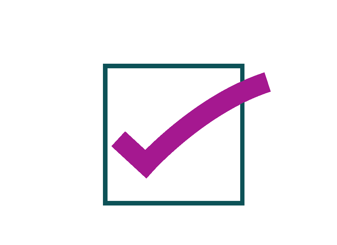 A tick box for a checklist