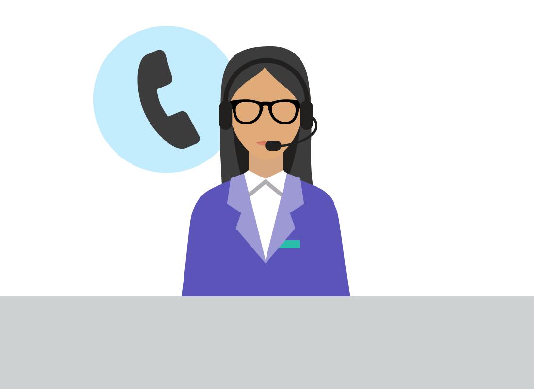 Kathleen's mobile phone provider's help desk