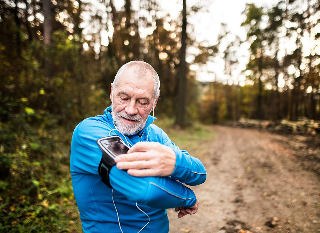 Music on mobile phones can also be used as inspiration for keeping fit!