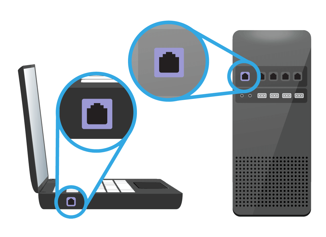 A zoomed-in view of the sockets or ports on large devices that are specifically for cables to be plugged in